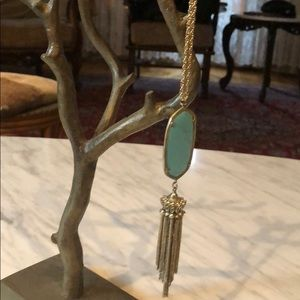 Kendra Scott Turquoise Long Chain Necklace